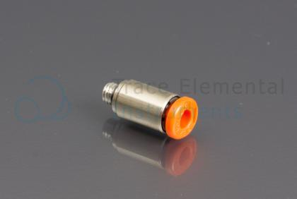 <p>Push-in connector, Male  m5 x 4mm OD, straight</p>