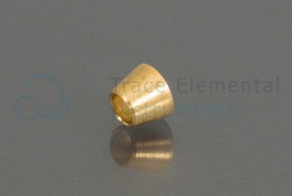 <p>Ferrule, Front, brass, 1/8  OD</p>