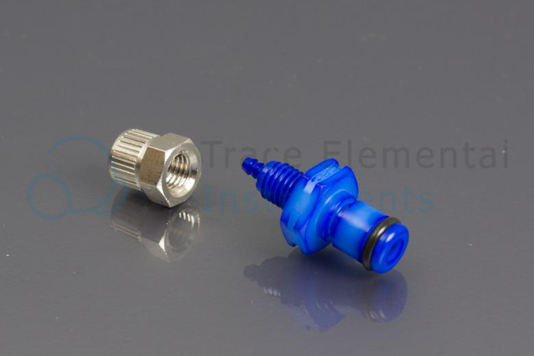 <p>Quick connector, blue male, Oxygen supply</p>