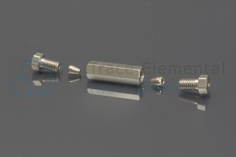 <p>Union, SS, 1/16  0.5 mm bore, needle coupler, GLS</p>