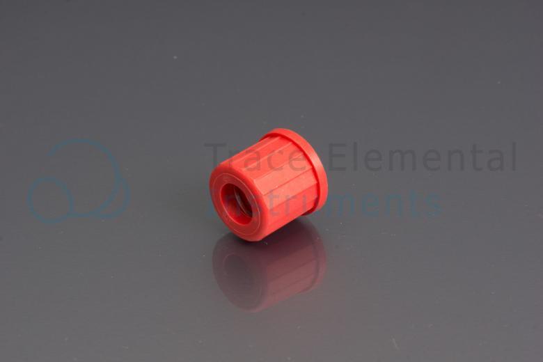 <p>Screwcap, PBT, red, for GL-14 neck, 9.5 mm orifice</p>